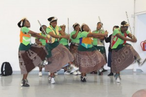 Amabhaca cultural group from Lwandle delivering their cultural item