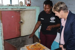 Minister Marais during her tour of the Hostel, with Masa Soko, the Museum Manager2